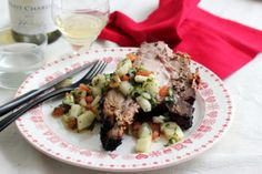 Pork Rib Roast with Pear and Tomato Salsa