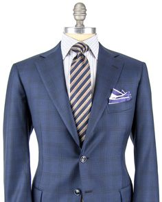Blue with Black Check Suit