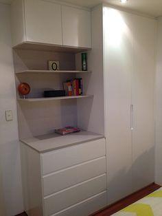 Roupeiro de solteiro ou para quarto de hóspedes pequeno