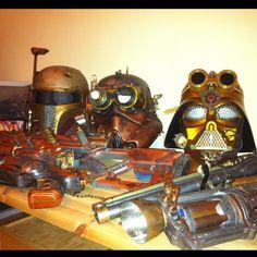My steampunk star wars arsenal.