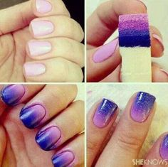 Blending nail polish