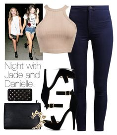 """Night with Jade and Danielle."" by fireproofnarry ❤ liked on Polyvore featuring Diane Von Furstenberg, Rachel Entwistle, women's clothing, women, female, woman, misses, juniors, littlemix and daniellepeazer"