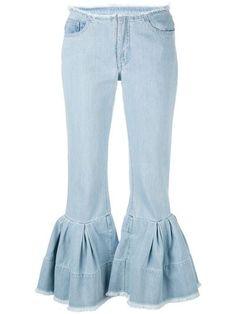 Marques Almeida 'Ruffled Hem Jeans' Baby Blue £320.00