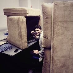Joel Smallbone, For King and Country.... IT'S aaaaa.. idk but it's some fort made out of couches