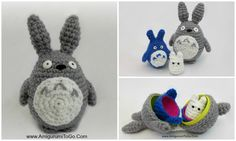 Crochet Toys For Boys Stacking Totoros DIY Made With Plastic Easter Eggs ~ Amigurumi To Go Crochet Amigurumi Free Patterns, Crochet Toys, Free Crochet, Egg Crafts, Yarn Crafts, Crochet Totoro, Crochet Bookmarks, Easter Crochet, Crochet For Boys
