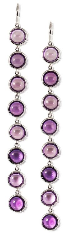 Mischief Amethyst Long Tier Earring by Goshwara! Goshwara is available at London Jewelers!