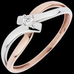 Bague Solitaire La Vie En Rose - diamant 0.05 carat 310 € (-28%)
