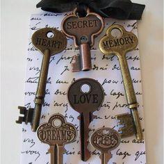 Vintage keys as Pushpins!
