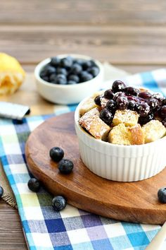 Baked blueberry French toast!