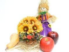 Fall Decorating - Sunflower Floral Arrangement via Bowdabra Blog