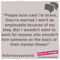 I choose to be brutally honest because people should be able to find out what living with something like BPD is really like. #timetotalk