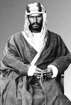 King Abdulaziz (15 January 1876 – 9 November 1953) was the first monarch of Saudi Arabia, the third Saudi State. He was referred to for most of his career as Ibn Saud. As King, he presided over the discovery of petroleum in Saudi Arabia in 1938 and the beginning of large-scale oil exploitation after World War II.