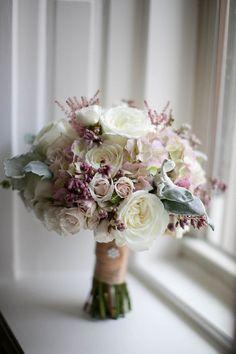 bouquet. Pale purples