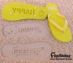 a6c2dff57956 Custom Sand Imprint Flip Flops. Personalize With Your Design.