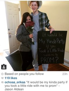 Jason Aldean country promposal - Hairstyles For All Cute Homecoming Proposals, Hoco Proposals, Formal Proposals, Homecoming Dresses, Country Prom, Country Dance, Country Girls, Prom Pictures Couples, Prom Couples
