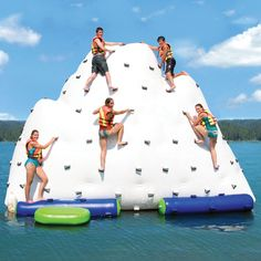 The Gigantic Inflatable Climbing Iceberg - Hammacher Schlemmer---climb up the one side and slide down the other!