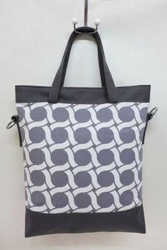 Schultertasche aus Baumwolle und Plane mit skandinavischen Design / scandic design shopper bag by edda.b. via DaWanda.com