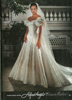 This is mom's wedding dress from the early 90s.
