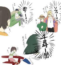 Studio Ghibli Art, Studio Ghibli Movies, Diabolik, Anime One, Manga Anime, Personajes Studio Ghibli, Studio Ghibli Characters, Anime Crossover, Howls Moving Castle