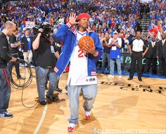 Allen Iverson Returns To Philly In White / Red Reebok Question. And AI didn't even practice for this event!