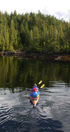 Paddling the Current Designs Libra XT at Orcas Cove with Southeast Sea Kayaks, Ketchikan, Alaska.