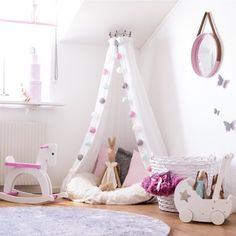 Are you a book lover? Love a special place or spot to read? Come and check out these 25 Sweet Reading Nook Ideas for Girls! Big Girl Bedrooms, Little Girl Rooms, Girls Bedroom, Bedroom Decor, Playroom Design, Kids Room Design, Baby Room, Toddler Bed, Nook Ideas