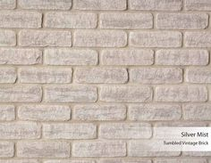 Tumbled Vintage Brick - Silver Mist - Arriscraft Silver Mist, Building Stone, Brick And Stone, 3d Max, Room Lights, Building Materials, Mists, Sweet Home, United States