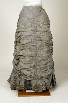 Haute Couture Victorian fashion dress gown from designer Mon. Vignon circa 1880…