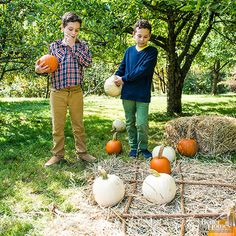 Paper and pens? We've got a better idea! Ropes and pumpkins bring an entirely different dimension to tic-tac-toe. Just be sure to pick up pumpkins in both orange and white to separate teams.