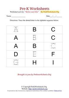 free printable pre k alphabet worksheets - Pre K Worksheet Printables