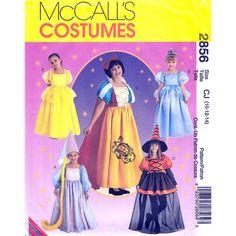 McCalls 2856/ 230 Girls Storybook Costume by finickypatternshop, $7.25