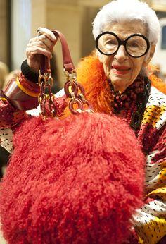 Iris Apfel, The 'Rare Bird Of Fashion', Debuts 'Extinctions' Handbag Line