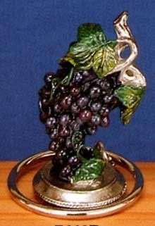 Grapes Collectible Painted Genuine Pewter Wine Bottle Stopper - Sealer - Cork 7640P by Wine Things Unlimite. $14.95. Made of Solid Pewter, and Hand Painted. Wine Safe Cork. Great Wine Lover Gift  -  Hand Wash Only. Hand Painted Wine Bottle Stopper. Bunch of Grapes Hand Painted Pewter Wine Stopper
