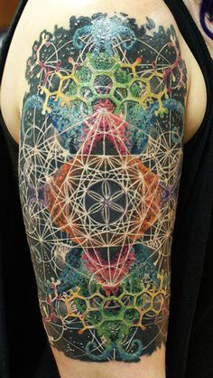 _ tattoo by dmitry vision _  This is such an amazingly intricate and colorful design. So cool!!!