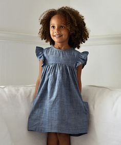 Another great find on #zulily! Chambray Denim London Dress - Toddler & Girls #zulilyfinds