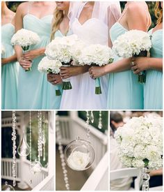 Teal & white wedding at Abernethy Center by Sweetlife Photography for Oregon Bride magazine