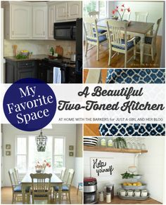 A Beautiful Two-Toned Kitchen | At Home with the Barkers for Just a Girl and Her Blog