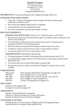resume for secondary english teacher susan ireland resumes templates download easyjob