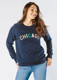 Sweet Home Chicago Sweatshirt - Navy – Alice & Wonder...