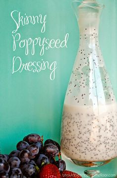 Skinny Poppyseed Dressing | Only ONE Weight Watchers Points Plus for 2 tablespoons!