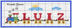 Cross Stitch, Crafts, Disney, Cross Stitch Train, Cross Stitch For Baby, Cross Stitch Alphabet, Cross Stitch Letters, Bobbin Lace Patterns, Crosses