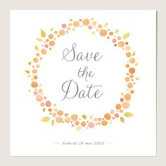 Save the date mariage : Nectar