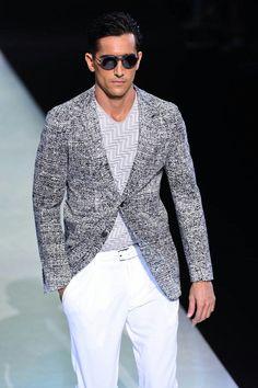 #Men's wear  Giorgio Armani Spring-Summer 2014  #Moda Hombre