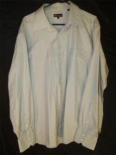 Mens Ben Sherman Dress Shirt 2XL 18 36-37 Button Up Gray Long Sleeve Stylish