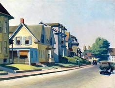 Edward Hopper, Sun on Prospect Street (Gloucester, Massachusetts), 1934.