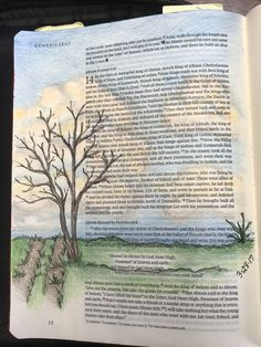 Genesis 13:18. So Abram moved his tent and came and settle by the oaks of Mamre, which are at Hebron, and there he built an altar to the Lord. Sherrie Bronniman: Art Journaling -In My Bible