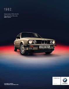 Retro press advertisement for a BMW 3 Series Campaign. 1982 BMW 3 Series E30.