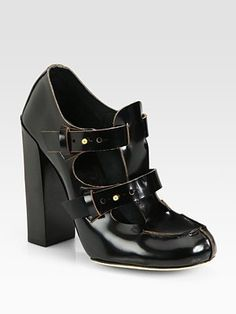 ShopStyle: Chloe Leather T-Strap Loafer Pumps