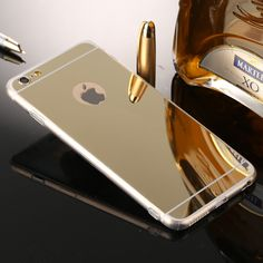 Phone Cases Rose Gold Luxury Mirror Soft Clear TPU Case For iphone 7 6 inch & iPhone 7 6 Plus & 5 Cover Back Iphone 7 Plus, Iphone 8, Apple Iphone 6, Iphone Cases, Luxury Mirror, Buy Phones, Iphone Models, 6 Case, 6s Plus