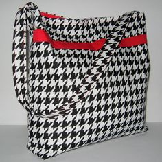 HANDBAGS / PURSES Slouch Bags Houndstooth by LittleLemonBagCo